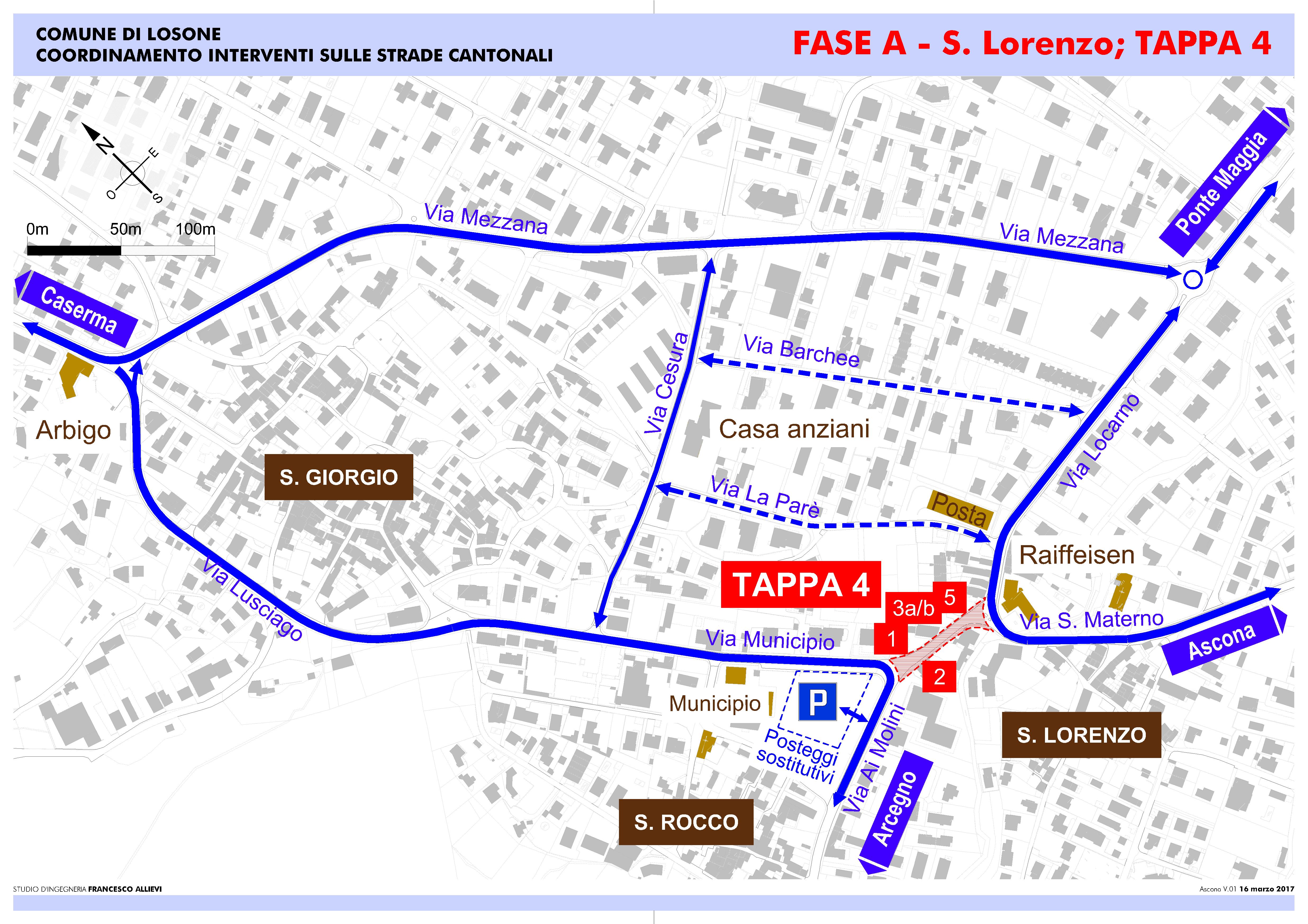 Mappa quarta tappa vie alternative per il traffico
