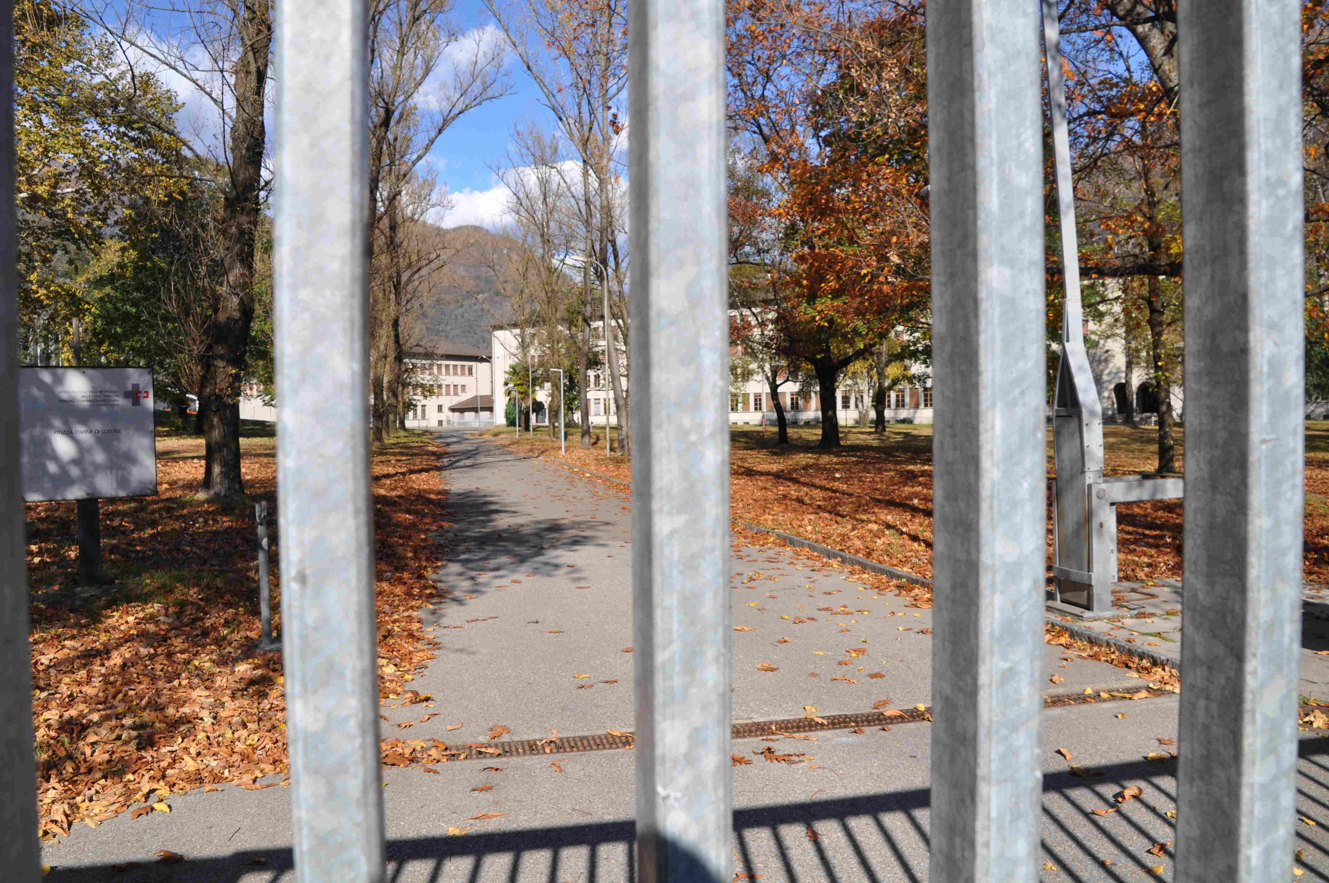 L'ingresso della Caserma di Losone