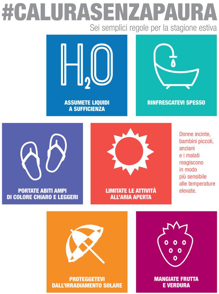 Sei regole per proteggersi dalla calura