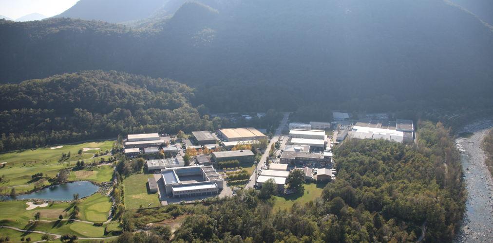 La zona industriale dello Zandone a Losone nel Locarnese.